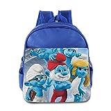 Toddler Kids The Smurfs School Backpack Cute Baby Boys Girls School Bag RoyalBlue