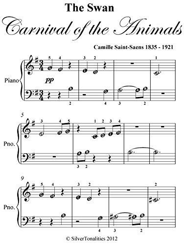 Swan Carnival of the Animals Saint Saens Beginner Piano