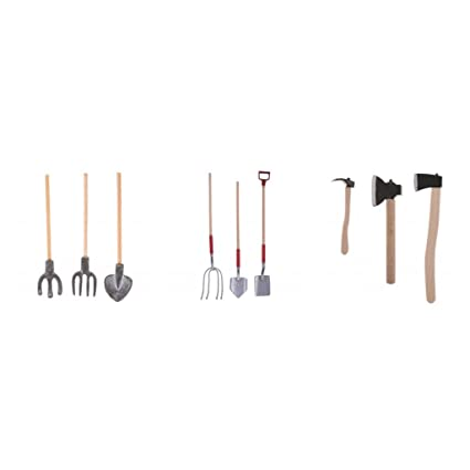 Dollhouse Tool Black Saw for 1:12 Scale Dollhouse Miniature Garden Accessory