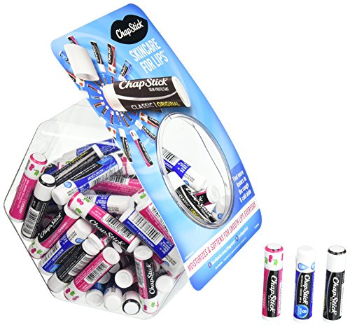ChapStick Classic Original, Classic Cherry & Lip Moisturizer Skin Protectant Flavored Lip Balm Tubes (0.15 Ounce Each, 1 Fish Bowl Container, 72 Total Sticks) by Chapstick