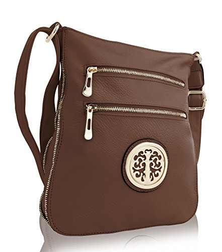 Khaki with RONEEDA Women MKF Collection Strap Bag Shoulder Medium Crossbody q6aXZA8nw