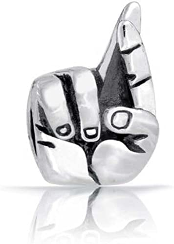 925 Sterling Silver Good Luck Sign NEW Hand with Crossed Fingers Charm