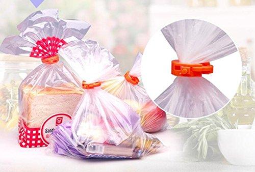 Drip Gravy (12Pcs Food Plastic Bag Seal Sealing Clip - Sealing Bag Clips(red))