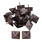 RDEXP Vintage Square Upholstery Furniture Decorative Stud Nails Pins Tacks 30x30mm Set of 20 (red bronze)