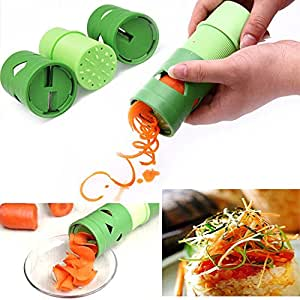 Easywin High Quality Compact Design Multifunction Vegetable Spiral Slicer Cutter Spirelli Kitchen Tool Spiralizer Twister Grater Utensil Processing Device