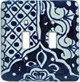 Double Toggle Traditional Talavera Ceramic Switch Plate