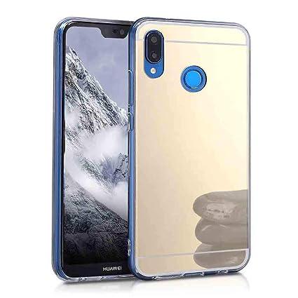 XCYYOO Funda Espejo para Huawei P20 Lite, Protectora Movil Carcasa TPU Silicona Ultra-Fina Bumper Mirror Case, Goma Cubierta Cobertura Delgado Cover ...