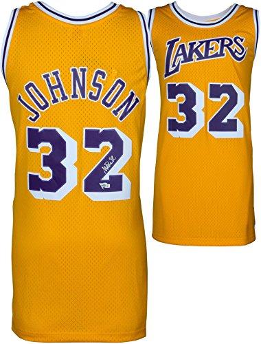 Magic Johnson Los Angeles Lakers Autographed Gold Mitchell & Ness Hardwood Classics Swingman Jersey - Fanatics Authentic Certified