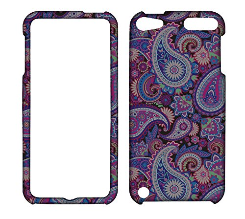 2D Purple Paisley Apple Ipod Touch 5 5th , 6 6th Generation AT&T Case Cover Hard Phone Case Snap-on Cover Rubberized Touch Protector Faceplates (Purple Rubberized Hard Faceplate)
