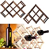 Ireav Creative Solid Red Wine Rack, Folding Wine Rack, Living Room, Red Wine Display Rack, Wine Shelf