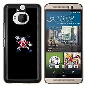 Qstar Arte & diseño plástico duro Fundas Cover Cubre Hard Case Cover para HTC One M9Plus M9+ M9 Plus (Meter Monster puntos rojos)