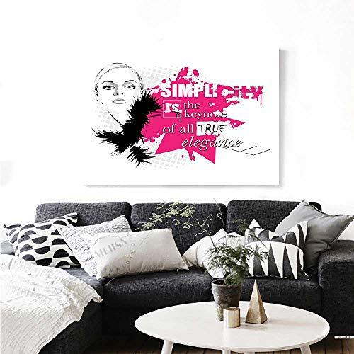 Girls Wall Paintings Lady Face with Makeup Simple Design Inspirational Vogue Fashion Theme Art Print On Canvas for Wall Decor 36