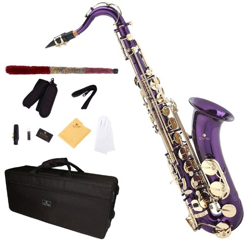 Cecilio TS-280PL 2Series Tenor Bb Saxophone with Mouthpiece, Case, 10 Reeds, and Accessories - Purple Lacquer by Cecilio (Image #7)