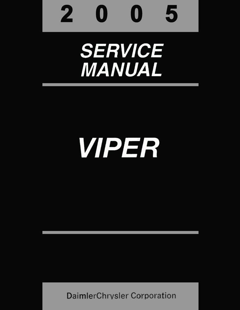 2005 Dodge Viper Shop Service Repair Manual Book Engine Drivetrain Electrical