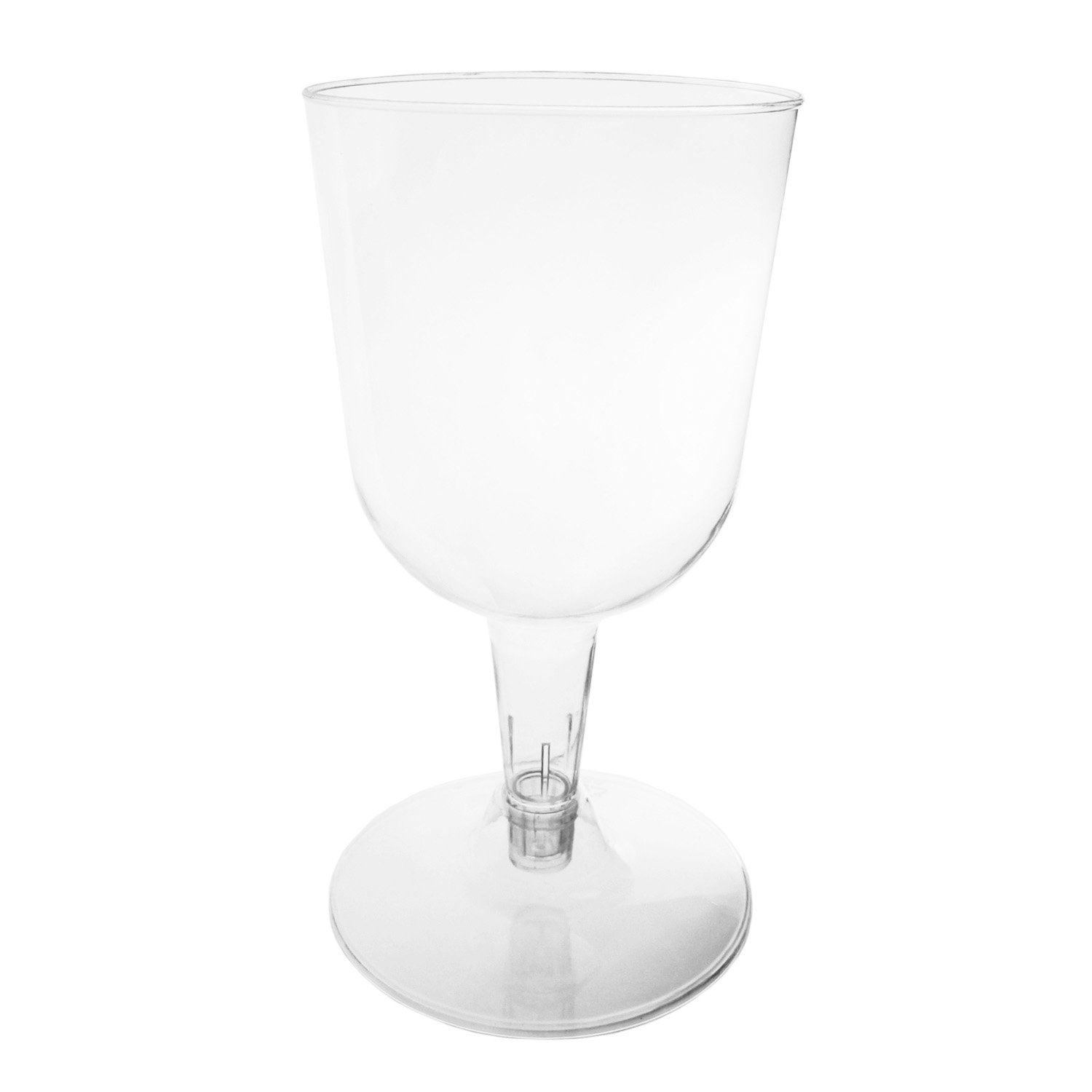 Clear Case of 96 Party Essentials NW115500-24//4 Hard Plastic 2-Piece Wine Glass 5.5-Ounce Capacity