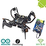 Freenove Quadruped Robot Kit with Remote Control | Arduino Robot Project | Spider Walking Crawling 4 Legged | Detailed Tutorial | Android APP | RC WiFi Wireless 2.4G Servo
