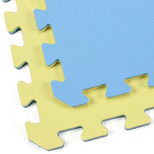IncStores Designer Reversible Interlocking Cardio and Kids Playroom Soft Foam Tiles (2ft x 2ft)