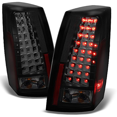 For 2003-2007 Cadillac CTS Black Smoked LED Tail Lights Brake Lamps Driver Left + Passenger Right Replacement Pair