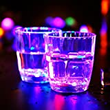 X&L Luminous Cup LED Water Cup / Water Induction Glowing Cup Creative Couple Gift Home Bar Night Field (battery purchased by the buyer)