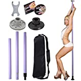 GHP Purple Full Kit Portable Dance Pole Exercise Fitness Club/Party Dancing
