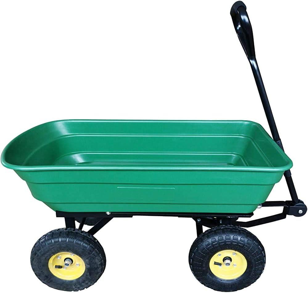 75 litros carro de jardín carretilla de cuatro camiones de basura pesada carretilla Volquete - Verde,Green: Amazon.es: Hogar