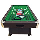 Billiard Pool Table 7' Feet Snooker Full Set Accessories Game mod. Green Season
