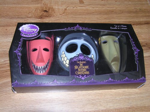 Costumes Nightmare Christmas Before And Barrel Lock Shock (Nightmare Before Christmas Set of 3 Masks Lock Shock and)