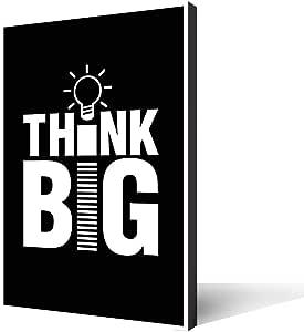 تابلوه خشبي مطبوع، think big، مقاس 30 × 20 سم لديكور المنزل والمكتب