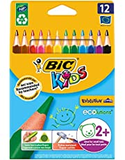 Bic Kids Evolution Triangle Colouring Pencils (Pack of 12)_Parent_SPIG9