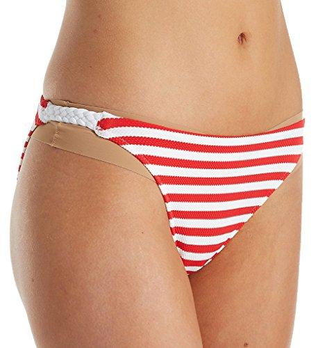 Freya Drift Away Rio Bikini Bottom, XS, Red Stripe -