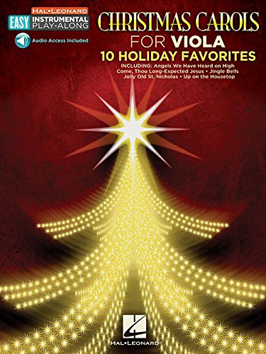 Christmas Carols: Viola Easy Instrumental Play-Along Book with Online Audio Tracks (Hal Leonard Easy Instrumental Play-along)