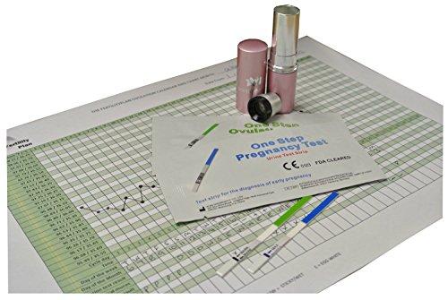 Ovulation Microscope (Saliva Fertility Microscope Tester & 10 x 20mIU/mL Ovulation and 2 x 10mIU/mL Pregnancy Tests)