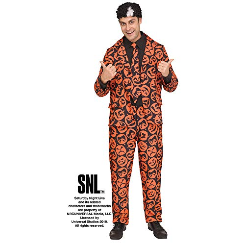 Fun World Men's Licensed Saturday Night Live David S. Pumpkins, Orange, STD. Up to 6' / 200 lbs