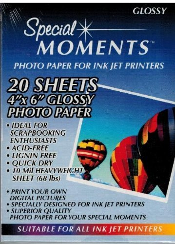 Glossy Inkjet Heavyweight (Special Moments Photo Paper for Ink Jet Printers: 20 Sheets, 4