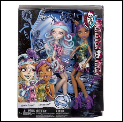 Monster High Scare and Make-Up Two Pack Featuring Viperine Gorgon and Clawdeen Wolf Dolls for $<!--$49.95-->