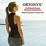 ORTONYX Full Back Support Brace with Removable