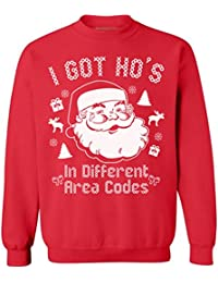 Awkwardstyles I Got Hos in Different Area Codes Sweater Ugly Christmas Crewneck