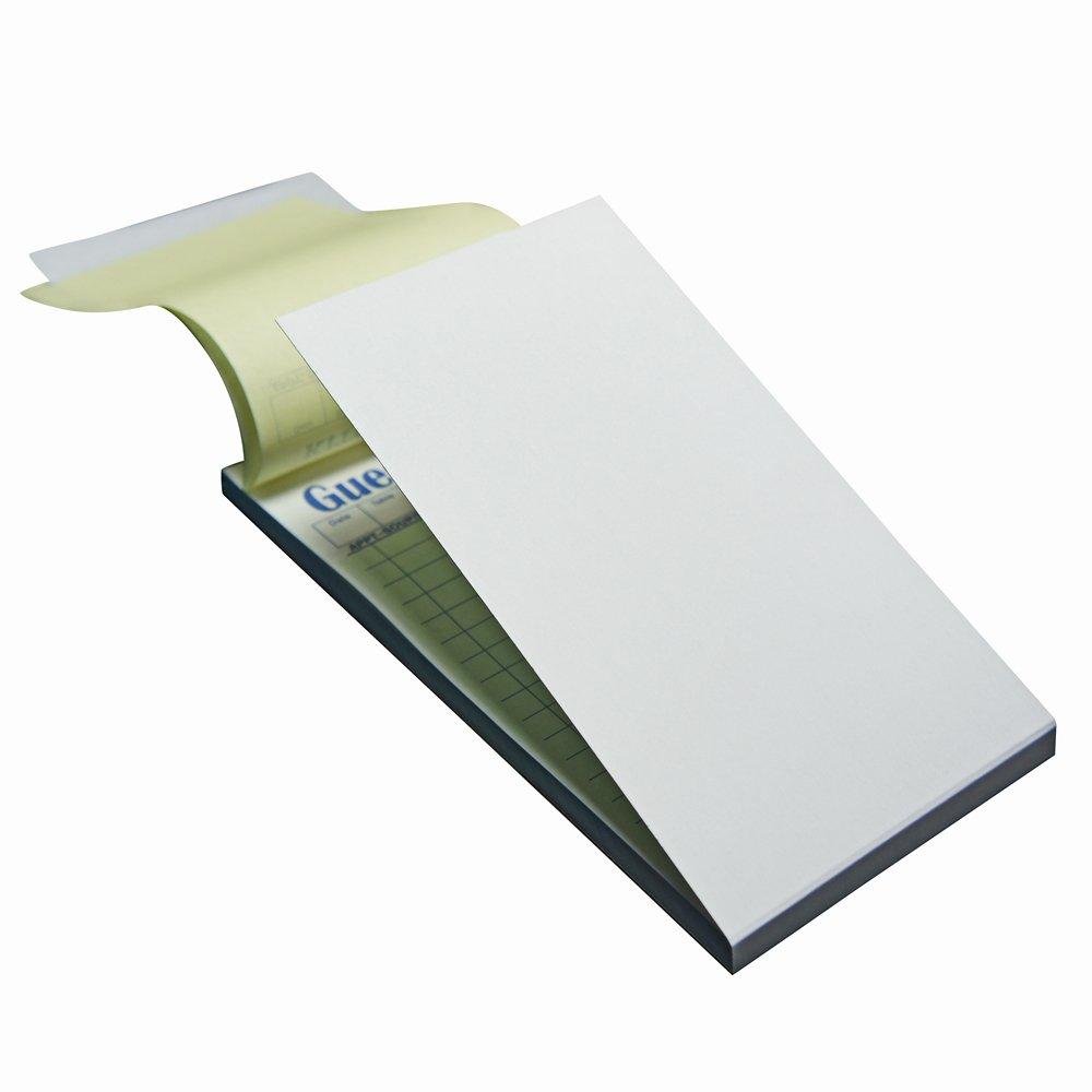 500 2 Part Green Carbonless Guest Check Pad, 500Chks (10 books/50 checks), 3.5 X 6.75 (GP-G7000)