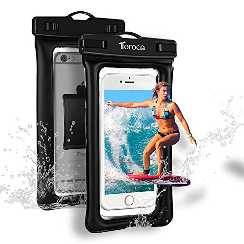 Floating Waterproof Phone Pouch Universal IPX8 Waterproof Case Water Resistant Cell Phone Case Dry Phone Bag For iPhone XS Max/XS/XR/X/8/8 Plus/7 Samsung Galaxy S9+/S9/S8 Note 9/8 Google Pixel 2 XL