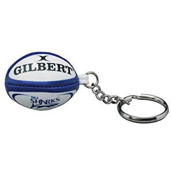 7b368bd11be GILBERT sale sharks rugby ball key ring: Amazon.co.uk: Sports & Outdoors