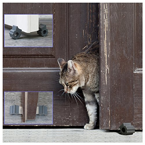 Door Stopper - Revolutionary New Design Stops Movement Forward and Backward - Holds Doors Securely in Place - Ideal for Pet And Child Safety Interior and Exterior Doors - 2 Door Stops Per Pack - Grey by GTP (Image #7)