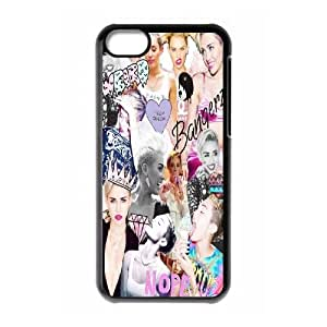 YNACASE(TM) Miley Cyrus Custom Hard Cover Back Case for iPhone 5C,DIY Phone Case with Miley Cyrus