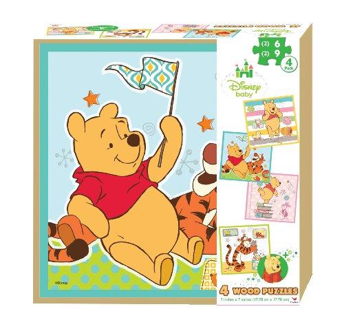 Disney Baby Winnie The Pooh 4 Wood Jigsaw Puzzle in Storage