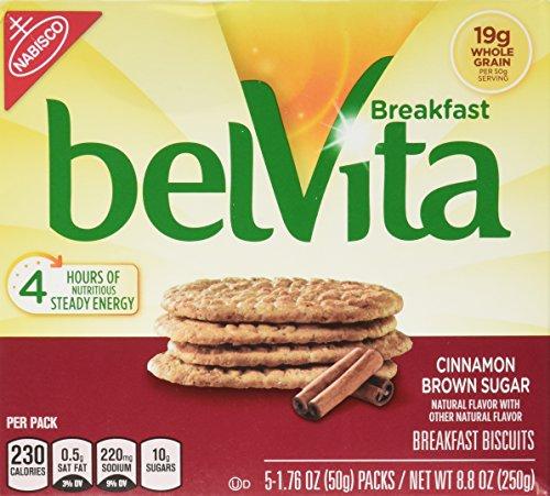 Belvita Cinnamon Brown Sugar Breakfast Biscuits 5 Servings (2 (Biscuit Sugar)