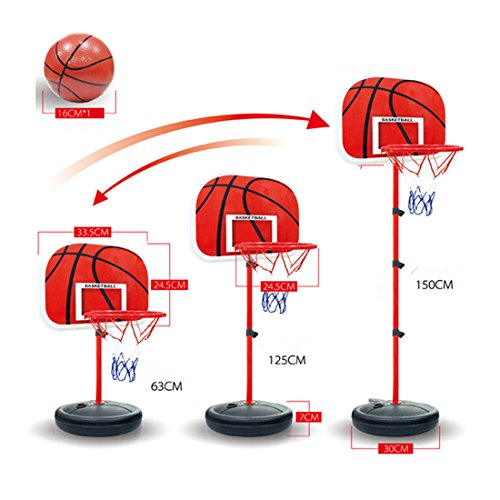 Basketball-Backboards-WOLFBUSH-63-150-Centimeter-Portable-IndoorOutdoor-4-Section-Height-Adjustable-Basketball-Goal-Hoop-Court-Stand-System