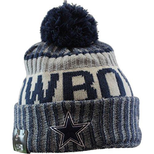 New Era Dallas Cowboys NFL Sideline On Field 2017 Sport Knit Beanie Beany Mütze Grey (Mls Vomax Dallas)