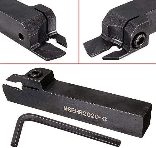 Queenwind MGEHR2020-3 20mmx125mm ホルダーカッティング溝カッター旋盤旋削工具ホルダー