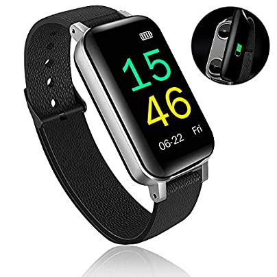 Lixada Fitness Tracker Waterproof Smart Bracelet IP67 Sports Pedometer Health Monitor Heart Rate Blood Pressure Daily Step Calorie Distance Counter Wristband Unisex Estimated Price £62.99 -