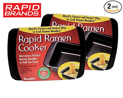 Rapid Ramen Cooker - Microwave Instant Ramen Noodles in 3 Minutes (Pack of 2) (Packaging may vary)