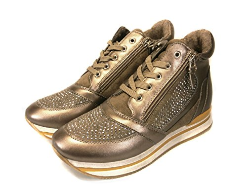 Lacci E Con In Sneaker Zip Made Mainapps Italy Pelle Taupe ItqSZ